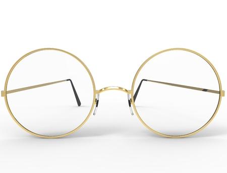 3d rendering of glasses isolated in white studio background. Reklamní fotografie - 124486105