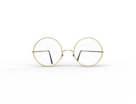 3d rendering of glasses isolated in white studio background. Reklamní fotografie - 124486108