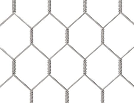 3d rendering of a metal fence isolated on white background Reklamní fotografie