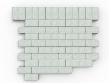 3d rendering of pavement stones pattern isolated in white studio background.