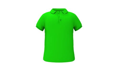 3d rendering of a polo shirt for men isolated in white background