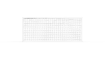 3D rendering of a football goal isolated in white studio background. 版權商用圖片