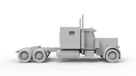 3d rendering 3d illustration of a transportation truck without trailer isolated on white background