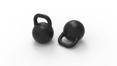 3d rendering of kettle bell weights isolated in white background