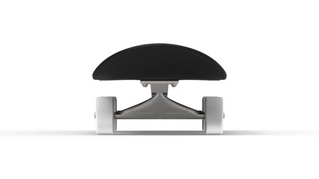 3d rendering of a skateboard isolated in white studio background