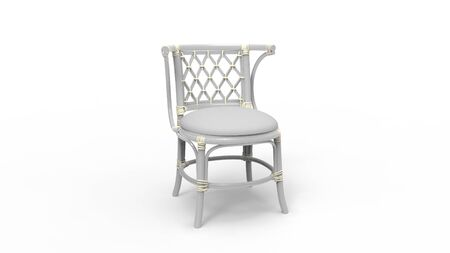 3d rendering of a wooden chair isolated in white studio background Stock fotó