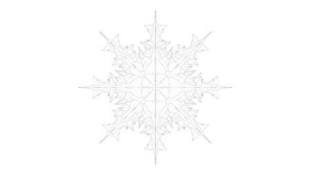 3d rendering of a crystal snowflake isolated on a white background. Foto de archivo - 133415663