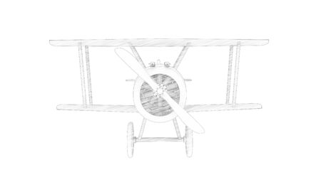 3d rendering of a world war 1 fighter bi plane isolated in white background Banco de Imagens - 133512832
