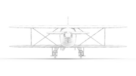 3d rendering of a bi plane isolated in white studio background Banco de Imagens - 133512865