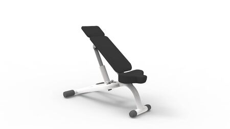 3d rendering of a excersise bench isolated in light studio background