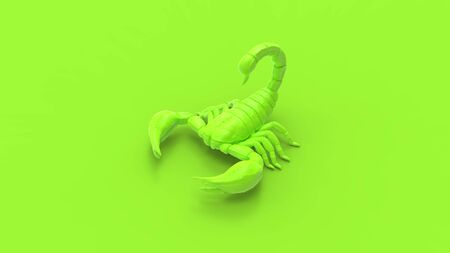 3d rendering of a scorpion isolated in a studio colored background. Stok Fotoğraf