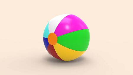 3d rendering of a beachball isolated in a studio background 版權商用圖片