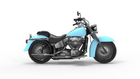 3D-Rendering eines Cruiser-Motorrads im Studiohintergrund isoliert isolated