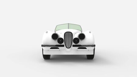 3d rendering of a classic vintage car isolated in a studio background 版權商用圖片
