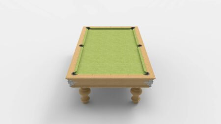 3d rendering of a pool table isolated in a grey white studio background 版權商用圖片