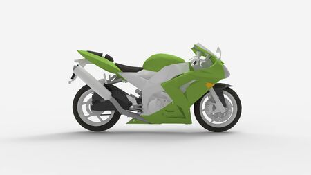 3d rendering of a super sport motorcycle isolated in a studio background