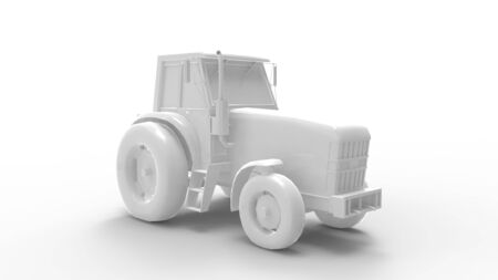 3d rendering of a tractor isolated in studio background Stock fotó