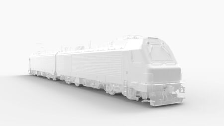3d rendering of a train isolated in studio background Stock Photo