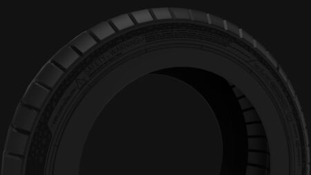 3d rendering of a car tire isolated in studio background