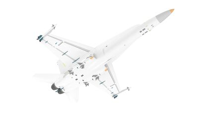 3d rendering of a millitary aircraft jet isolated on a white background 写真素材