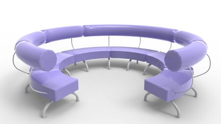 3d rendering of a round design bench isolated in a white background Фото со стока