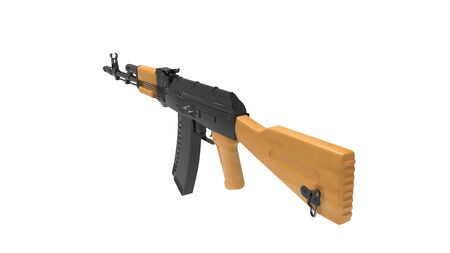 3d rendering of an assault rifle isolated in white studio background