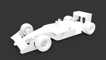 3d rendering of a vintage race car isolated in a studio background