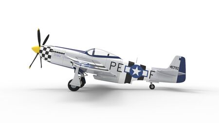 3d rendering of a world war two airplane isolated in white studio background. Banco de Imagens