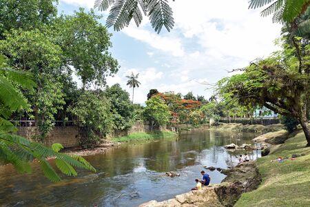 River in Morretes Brasil in a sunny scene
