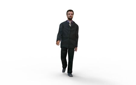 3d rendering of a businessman man isolated on a white background