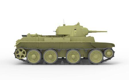 3D-Rendering eines Tanks im weißen Studio-Hintergrund isoliert. Standard-Bild