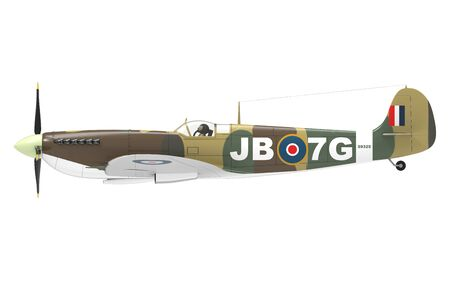 3d rendering of a world war 2 airplane isolated on plain white background