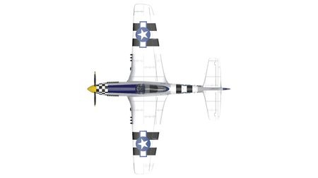 3d rendering of a world war two airplane isolated on white background. Banco de Imagens