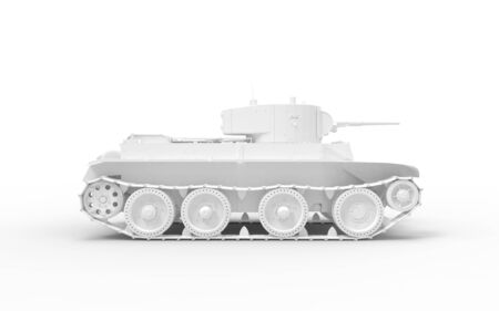 3d rendering of a tank isolated in white studio background.