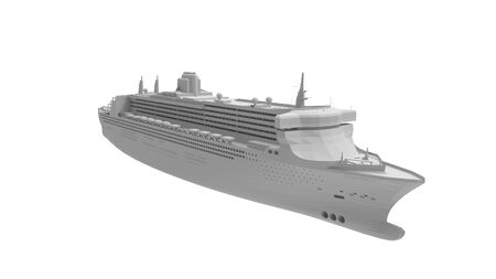 3d rendering of a cruise ship isolated on a white background