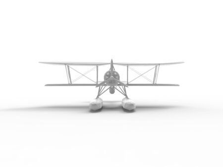 3D rendering of a water plane isolated in an empty white space. Zdjęcie Seryjne