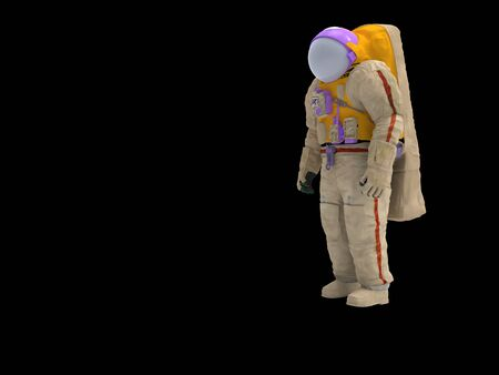 3D rendering of an astronaut isolated in empty space