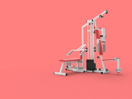 3d rendering ofo gym equipment isolated in empty space.