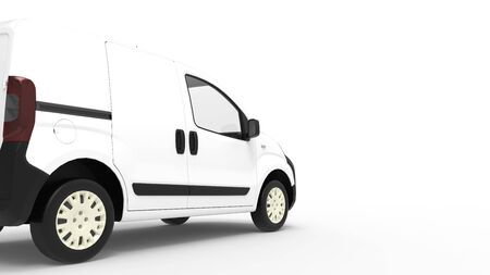 3D rendering of a computer generated model of a mini van isolated in empty space Reklamní fotografie