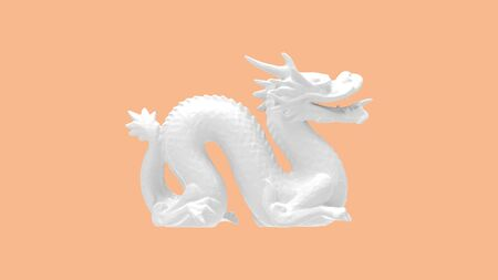 3D rendering of a dragon isolated in pastel colored mythical creature Standard-Bild