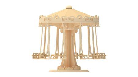 3D rendering of a carousel park attraction amusement fun ride Standard-Bild