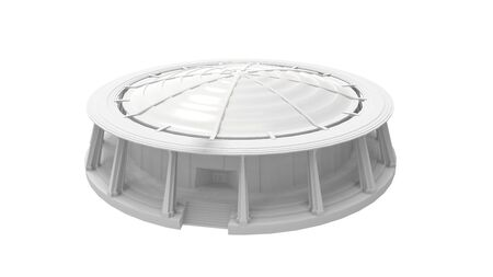 3D rendering of a stadium outdoor outside housing round circle Standard-Bild