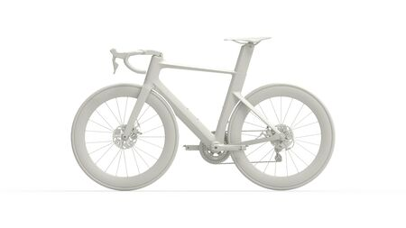 3D rendering of a bicycle race bike cycle cycling isolated technical render in studio Standard-Bild