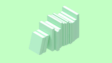 3D rendering of books isolated on empty space light bright background Zdjęcie Seryjne
