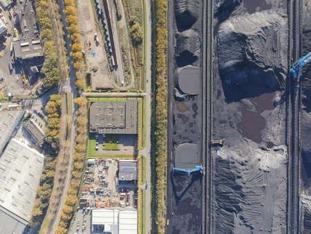 Coal storage place energy consumption piles of black coal