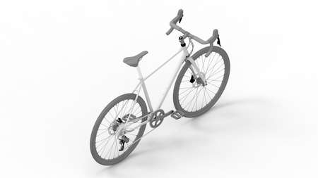 3D rendering of a racing bike bicycle isolated on white background Standard-Bild