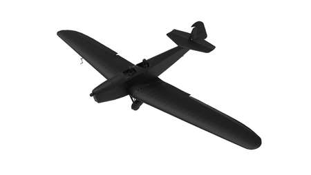 3D rendering of a airplane computer model isolated on empty space background