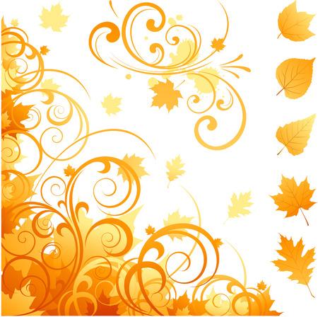 抽象的な秋の要素