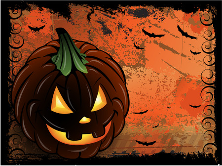 Halloween pumpkin background Stock Vector - 7842863