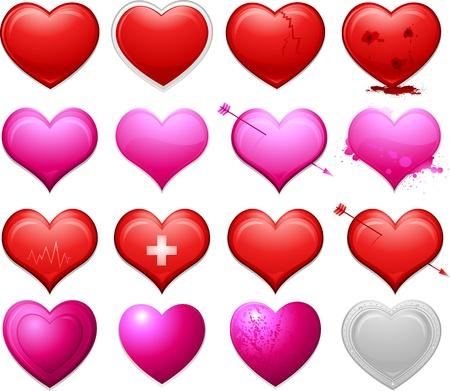 Heart shape collection Vector